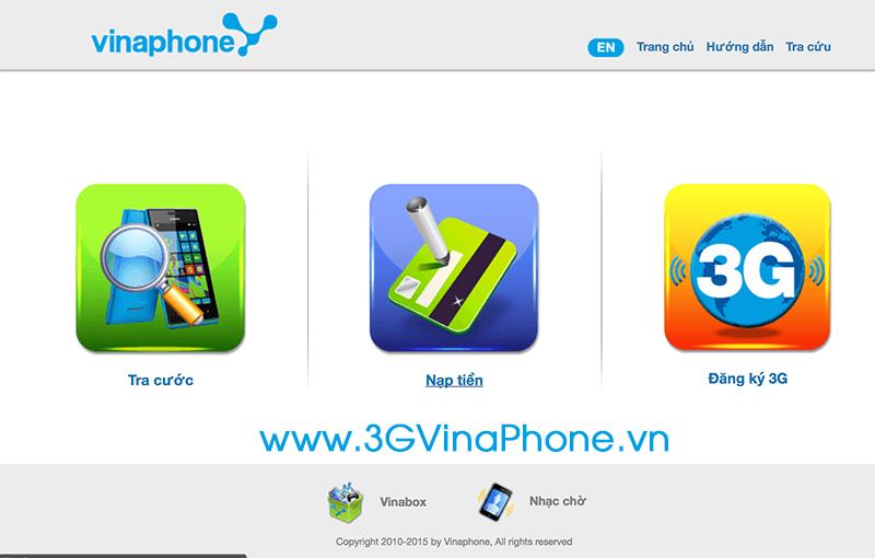 Cách nạp thẻ Vinaphone từ trang nạp thẻ online của Vinaphone