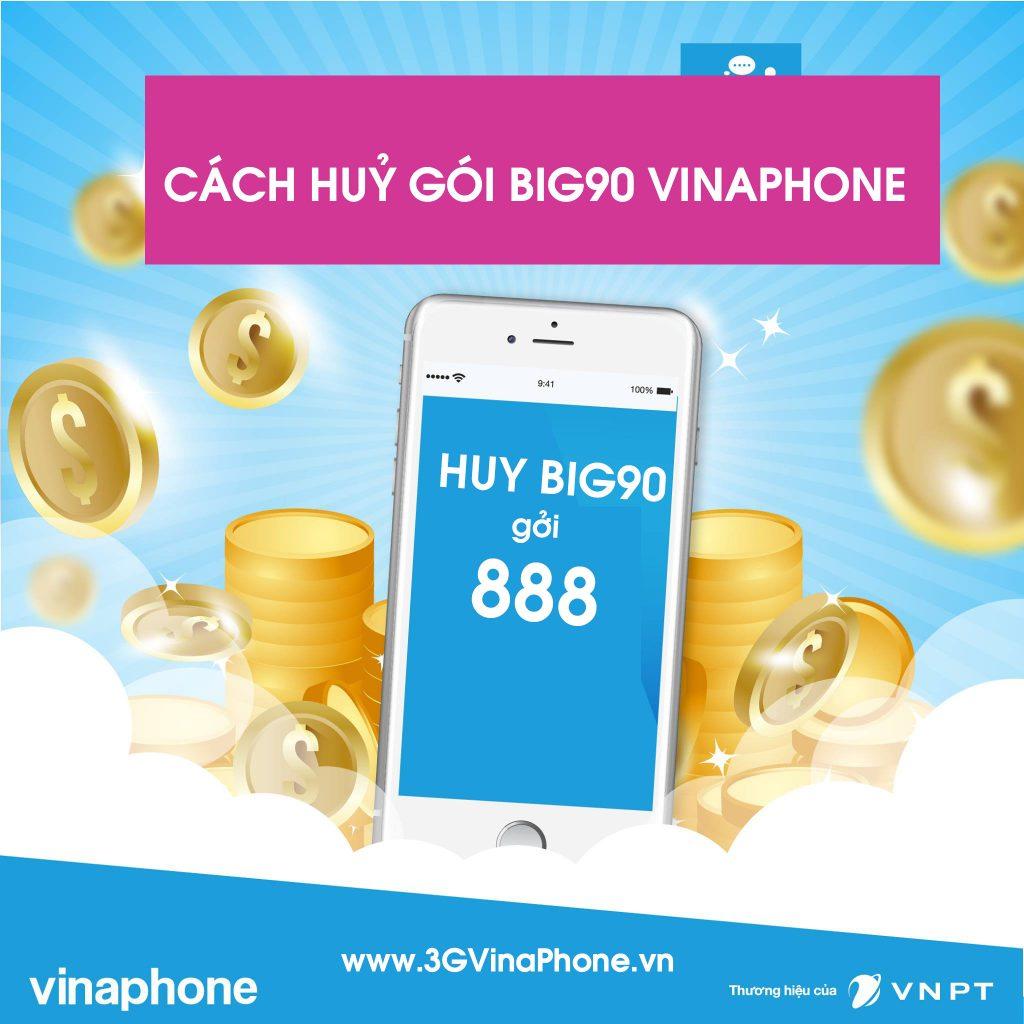 Cách huỷ gói Big90 VinaPhone qua tin nhắn