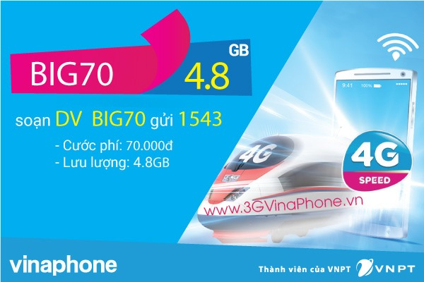 Với 70.000đ thì nên đăng ký gói MAX hay BIG70 Vinaphone?