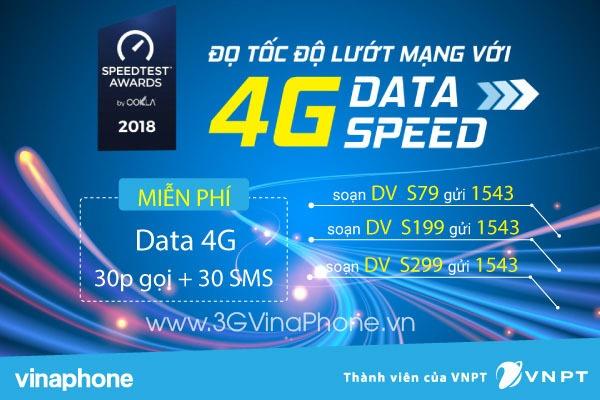Đăng ký các gói cước 4G Data Speed Vinaphone tốc độ cao ưu đãi 3 trong 1