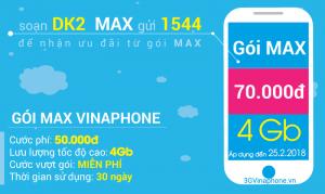 Đăng ký 3G Max sinh viên Vinaphone chỉ 25.000 1 tháng