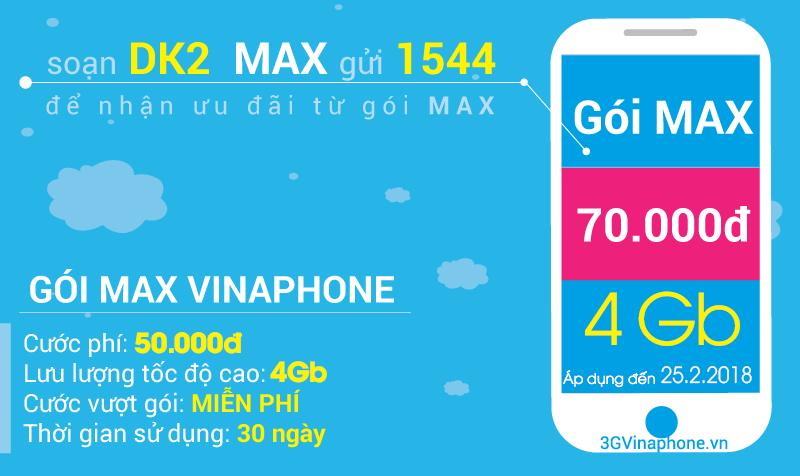 Đăng ký 3G Max sinh viên Vinaphone chỉ 25.000đ 1 tháng