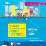 Đăng ký gói cước VD99 của VinaPhone nhận 30GB data + gọi < 10 phút