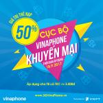 Khuyến mãi Vinaphone ngày 18/9/2017 tặng 50% giá trị thẻ nạp