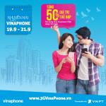 Vinaphone khuyến mãi cục bộ từ 19/9 - 21/9/2017 tặng 50% thẻ nạp