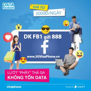 Cách đăng ký gói Facebook Vinaphone 1 ngày - Gói FB1 Vinaphone: