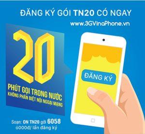 đăng ký gói tn20 của vinaphone