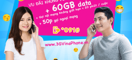 Đăng ký gói cước VD89 VinaPhone nhận 60GB data + gọi không giới hạn