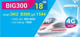 Đăng ký gói BIG300 Vinaphone miễn phí 18GB  Data giá 300.000đ