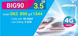 Đăng ký gói BIG90 VinaPhone nhận 3,5 Gb data chỉ 90.000đ