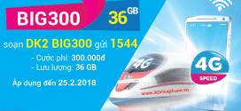 Đăng ký gói BIG300 Vinaphone miễn phí 36 GB Data giá 300.000đ