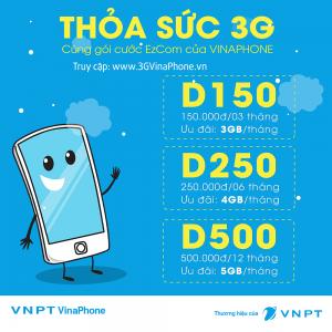 Đăng ký gói D250 Vinaphone cho ezCom có 24GB/ 6 tháng