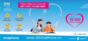 Gói cước GV35 và GV79 VinaPhone cho sim Giáo Viên VinaPhone