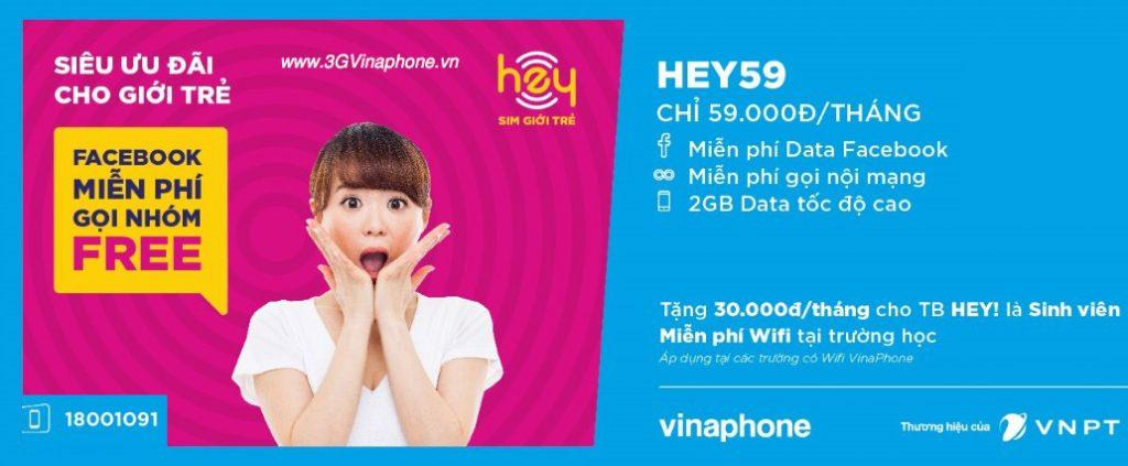 Cách đăng ký gói cước HEY59 VinaPhone