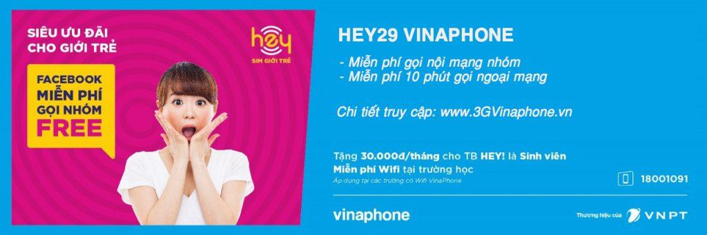 Đăng ký gói cước HEY29 VinaPhone