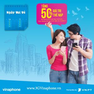 Khuyến mãi nạp thẻ Vinaphone thứ 6 hàng tuần ngày 13/10/2017