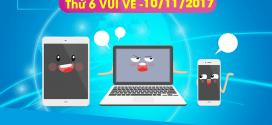 Khuyến mãi Vinaphone tặng 50% thẻ nạp thứ 6 vui vẻ ngày 17/11/2017
