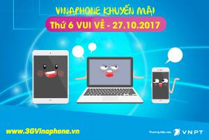 Khuyến mãi Vinaphone tặng 50% thẻ nạp thứ 6 vui vẻ ngày 27/10/2017