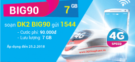 Đăng ký gói BIG90 VinaPhone nhận 7 Gb data chỉ 90.000đ