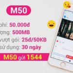 Cách đăng ký 3G gói cước M50 VinaPhone chỉ 50.000/tháng