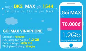 Hướng dẫn đăng ký gói cước 3G MAX Vinaphone trọn gói 2017