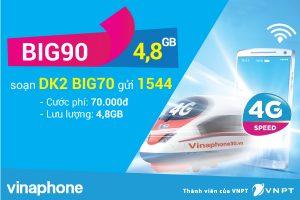 Đăng ký gói BIG70 Vinaphone miễn phí 4,8 GB data chỉ 70.000