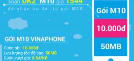Cách đăng ký 3G gói cước M10 Vinaphone giá rẻ 10.000đ