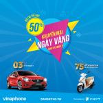 Vinaphone khuyến mãi ngày vàng 24/11/2017 tặng 50% giá trị thẻ nạp