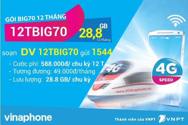 Đăng ký gói 12TBIG70 Vinaphone gói cước BIG70 chu kỳ 12 tháng