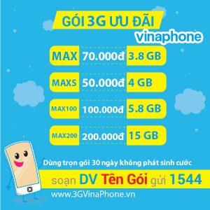 Đăng ký 3G Vinaphone 1 ngày, gói cước 3G Vina theo ngày mới 2018