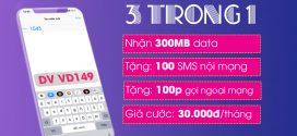 Đăng ký gói cước B30 Vinaphone miễn phí gọi, nhắn tin, data 3G 4G