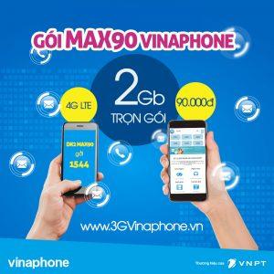 Hướng dẫn cách đăng ký gói MAX90 Vinaphone nhận 2GB data 4G chỉ 90.000