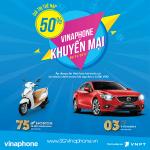 Khuyến mãi Vinaphone ngày 6/12/2017 tặng 50% thẻ nạp cục bộ