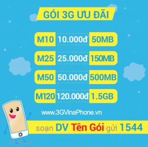 Hướng dẫn cú pháp đăng ký 3G vinaphone mới nhất 2018