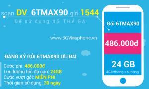 Đăng ký gói cước 6TMAX90 Vinaphone trọn gói 6 tháng
