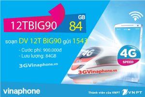 Đăng ký gói cước 12TBIG90 Vinaphone nhận 84GB data 12 tháng
