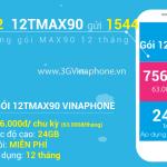 Đăng ký gói cước 12TMAX90 Vinaphone - gói MAX90 12 tháng của Vinaphone