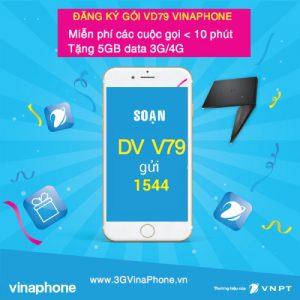 Đăng ký gói cước VD79 VinaPhone Miễn Phí 5GB + Gọi < 10 phút