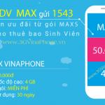 Đăng ký gói 3G Vinaphone sinh viên gói cước MAXs Vinaphone 50K/tháng