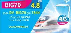 Đăng ký gói BIG70 Vinaphone miễn phí 7.2 GB data chỉ 70.000đ