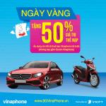 Khuyến mãi Vinaphone ngày vàng 6/2/2018 tặng 50% giá trị thẻ nạp