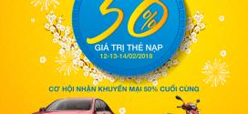 VinaPhone khuyến mãi ngày vàng 12/2, 13/2, 14/2 tặng 50% giá trị thẻ nạp