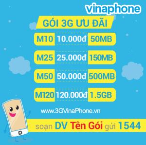 Hướng dẫn cú pháp đăng ký 3G vinaphone mới nhất 2018 theo tháng