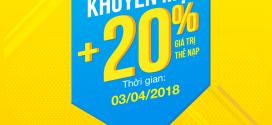 Khuyến mãi Vinaphone 17/4/2017 tặng 20% giá trị thẻ nạp thứ 3 vui vẻ