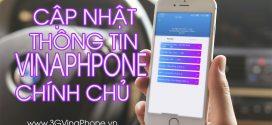 Cách cập nhật thông tin thuê bao VinaPhone Online theo nghị định 49/NĐ-CP