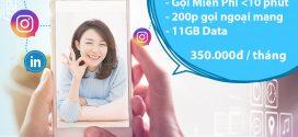 Đăng ký gói cước VD350 Vinaphone nhận 11GB data + gọi thả ga 30 ngày