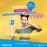Đăng ký gói cước VD100 VinaPhone nhận 21GB + Gọi không giới hạn + 100 SMS