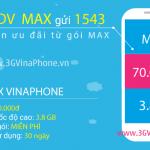 Đăng ký gói MAX Vinaphone trọn gói nhận 3.8Gb data 3G 4G chỉ 70.000đ