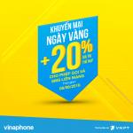 Vinaphone khuyến mãi ngày vàng 8/6/2018 tặng 20% giá trị thẻ nạp