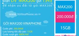 Cách đăng ký gói MAX200 Vinaphone nhận 22.5 GB data chỉ 200.000đ
